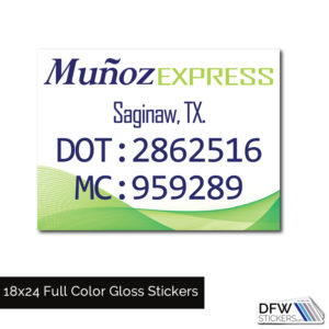 Custom Us Dot Stickers Decals And Magnets